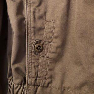 Brown spring jacket.